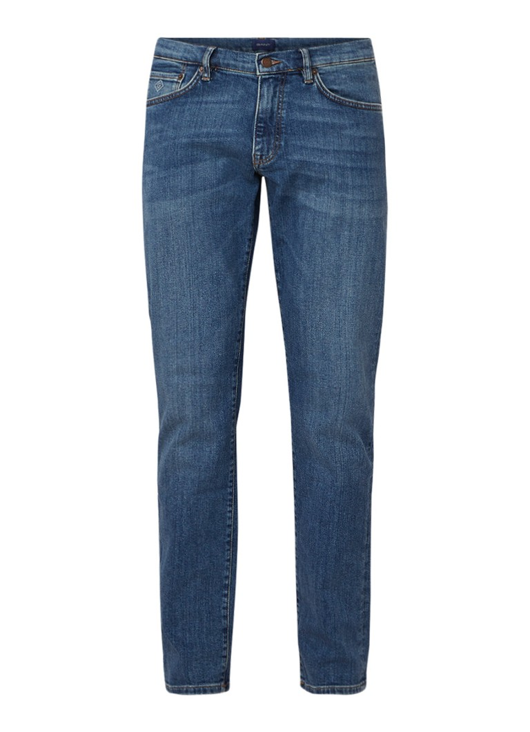 Image of Gant Slim fit jeans met stretch