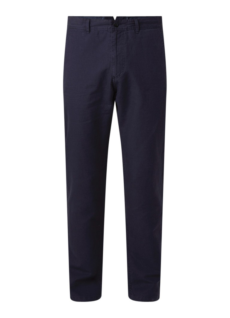 Gant O2 regular fit chino in linnenblend