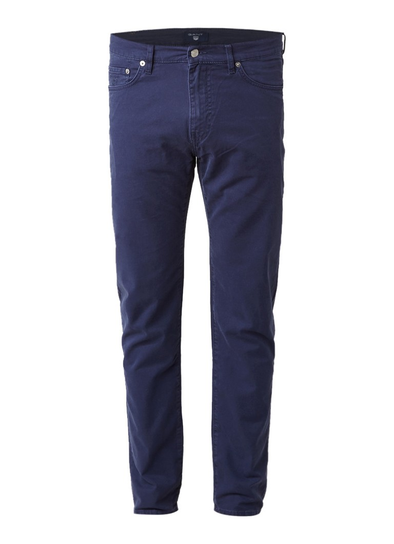 Gant Mid rise slim straight jeans met donkere wassing
