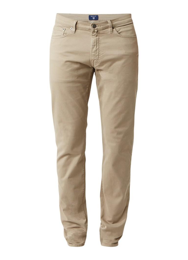 Gant Slim straight fit jeans met stretch