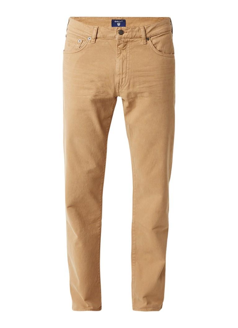 Gant Moleskine regular straight jeans met gekleurde wassing