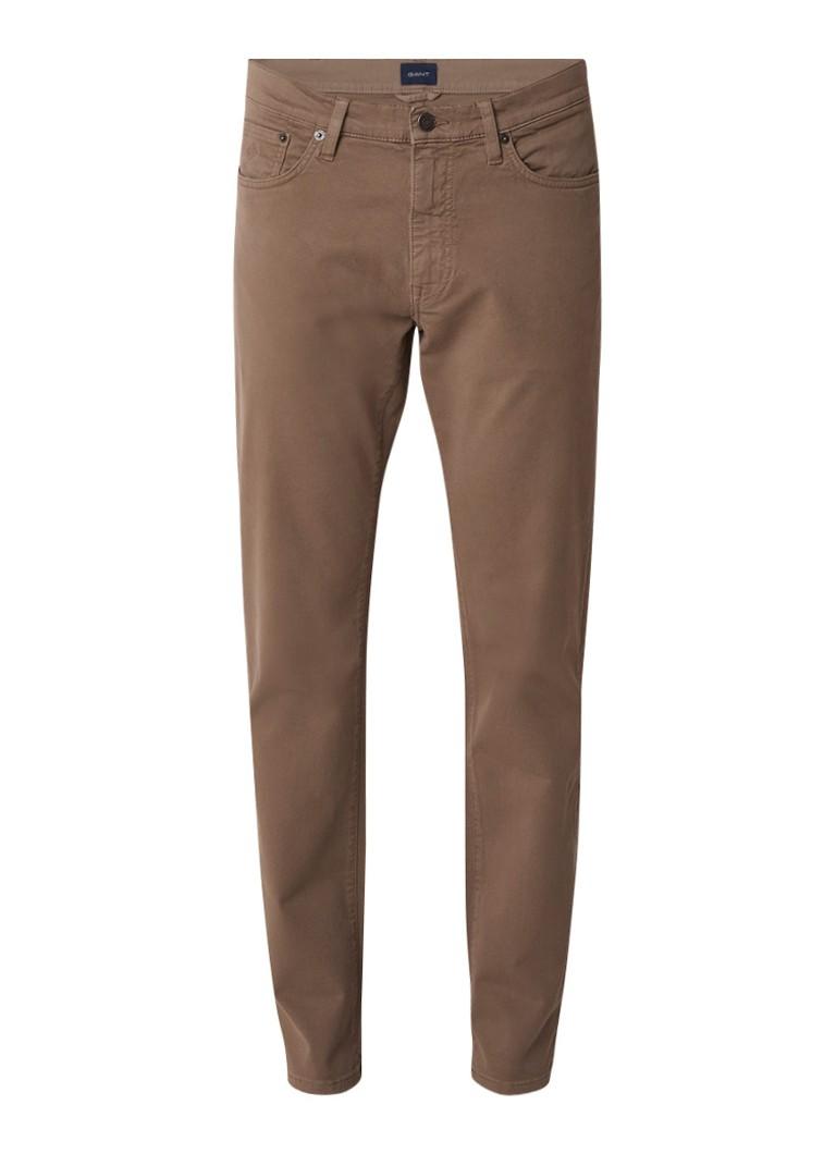 Gant Slim fit 5-pocket jeans met stretch