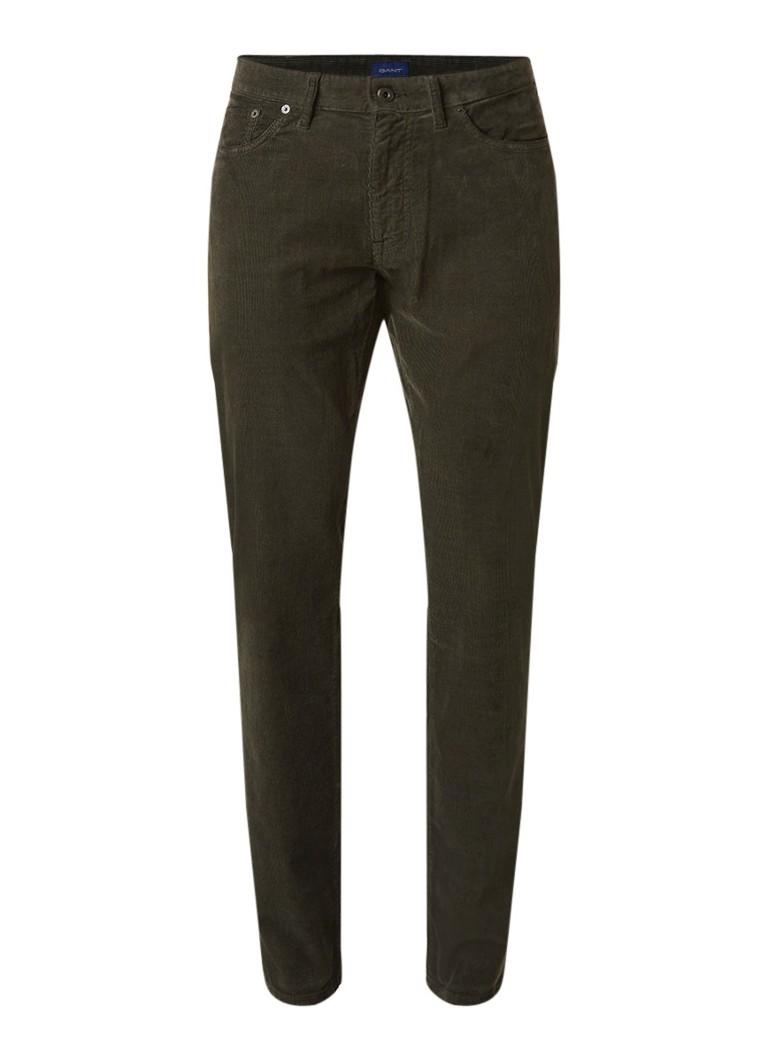 Gant Slim fit mid rise jeans van corduroy