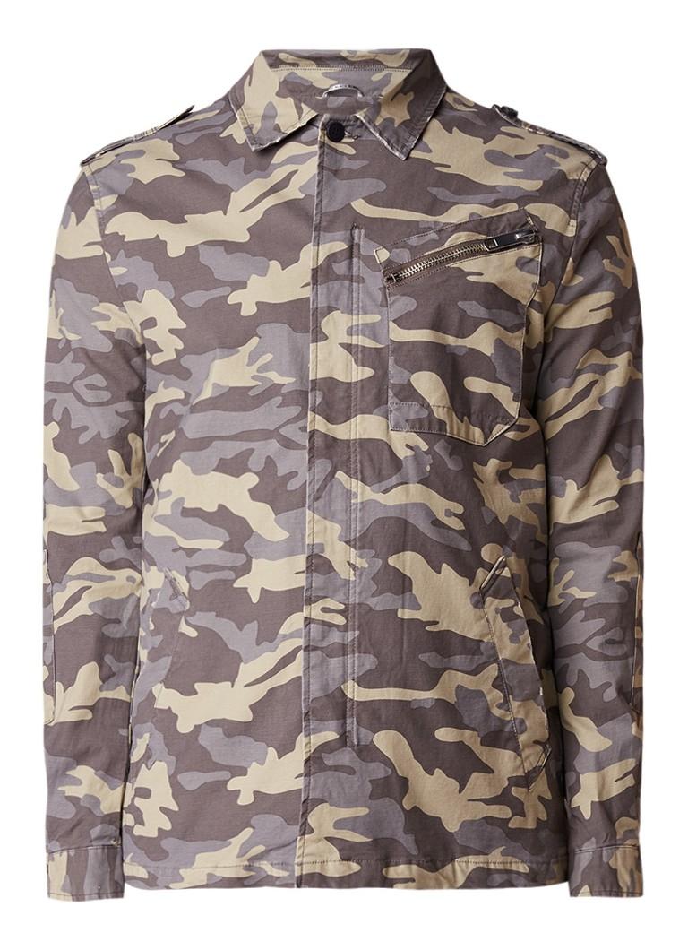 Antony Morato Jack van katoen met camouflageprint