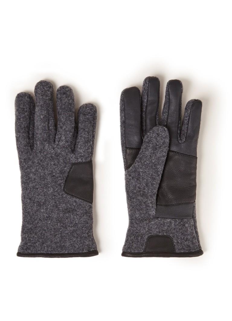 UGG 17431 handschoenen met leren details