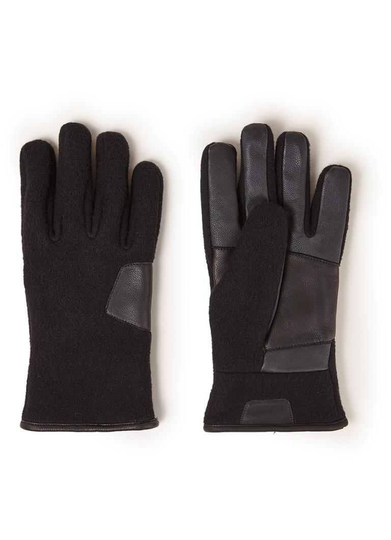UGG 17431BX handschoenen met leren details