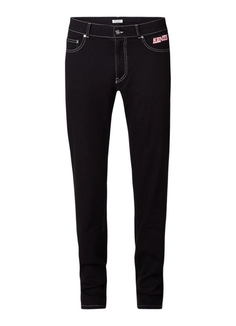 KENZO Stitching slim fit jeans met contraststiksel