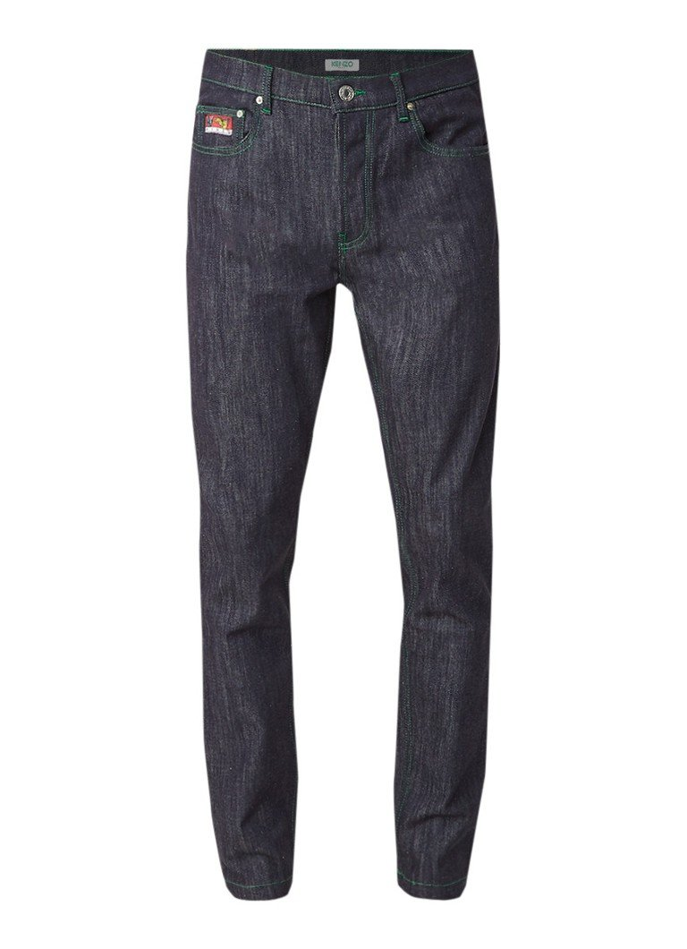 KENZO Tapered fit jeans met contrasterend stiksel