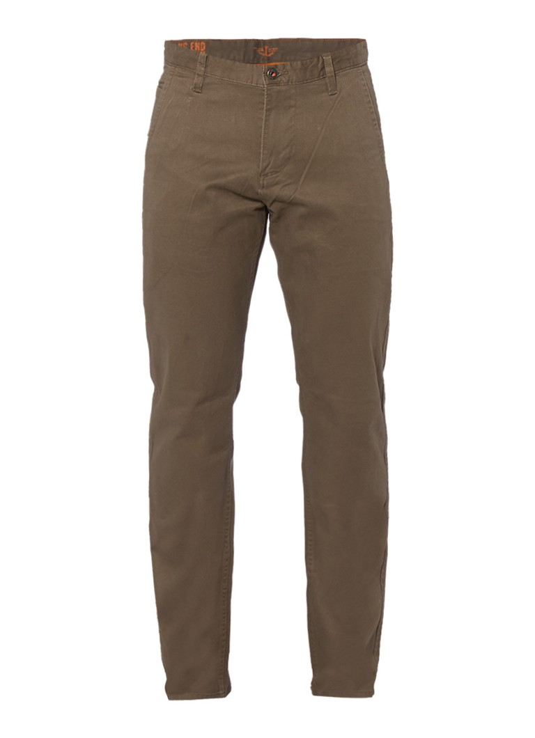 Dockers Alpha Stretch Khaki slim tapered chino in donkerkhaki