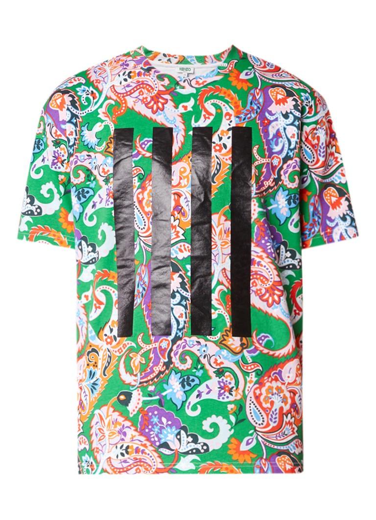 KENZO T-shirt met paisley dessin