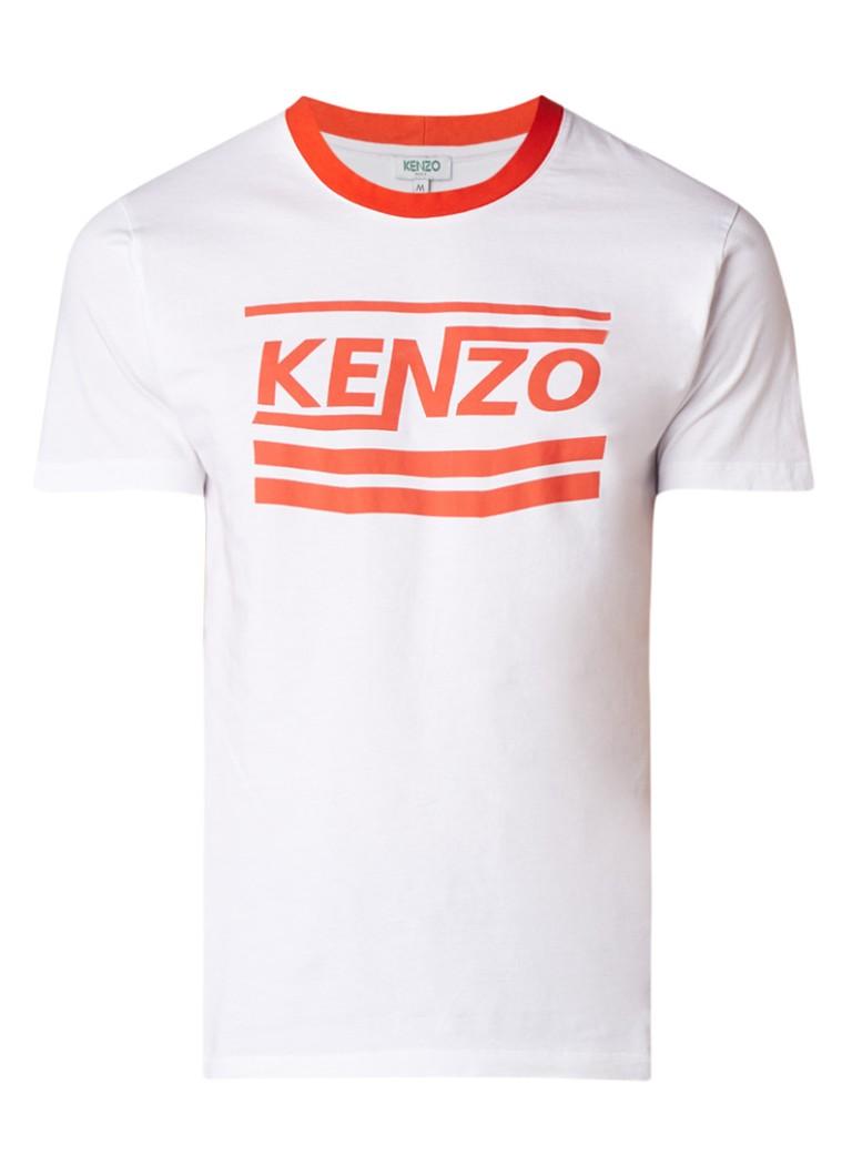 KENZO T-shirt met contrastboord en logoprint