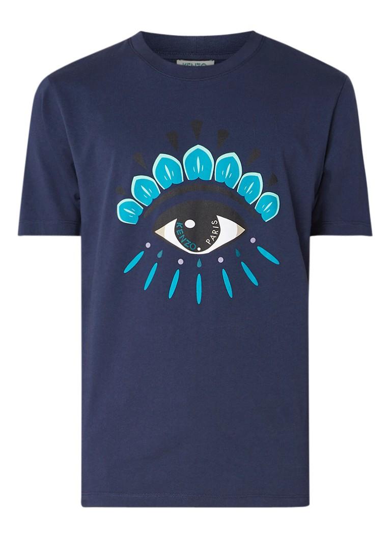 KENZO T-shirt met ronde hals en opdruk