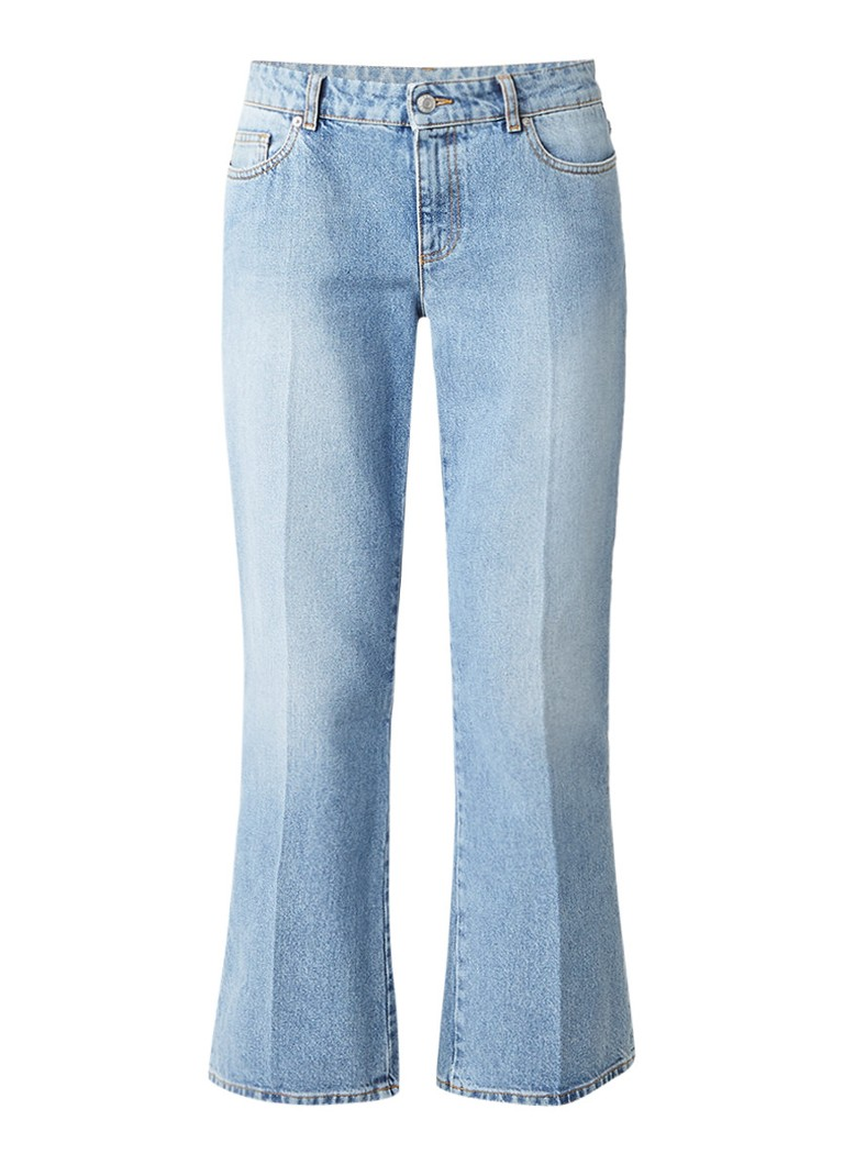 Alexander McQueen High waist kickback jeans met persplooien
