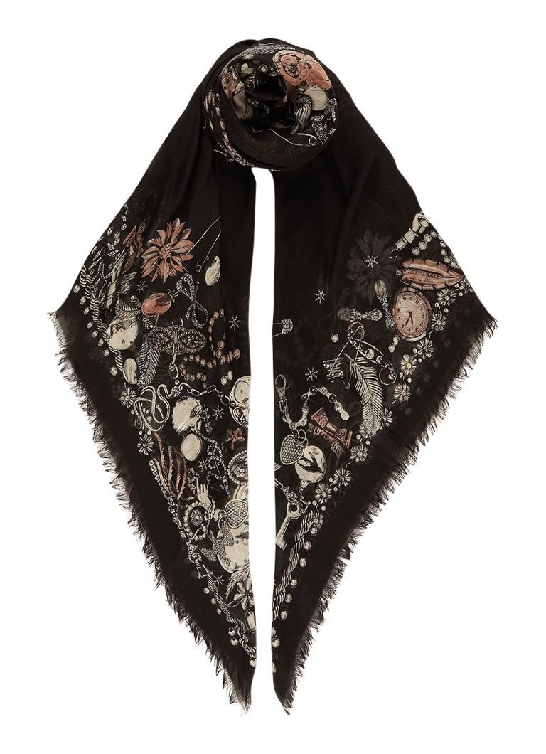 McQ Alexander McQueen Sjaal met dessin 138 x 138 cm