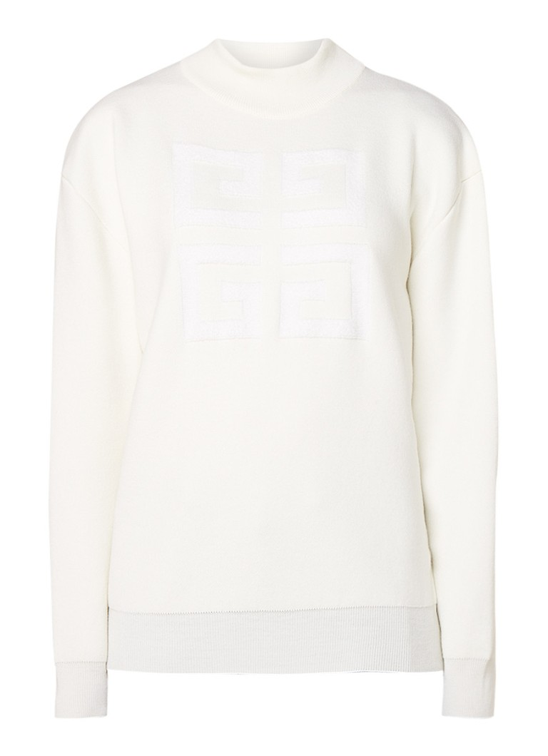 Givenchy Oversized sweater met logo applicatie