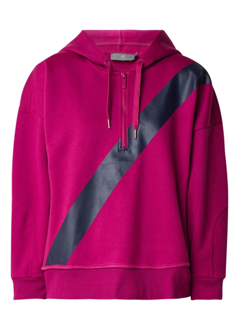 adidas Comfort yoga hoodie met halve rits
