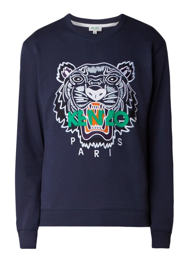 KENZO Tiger sweater met logoborduring