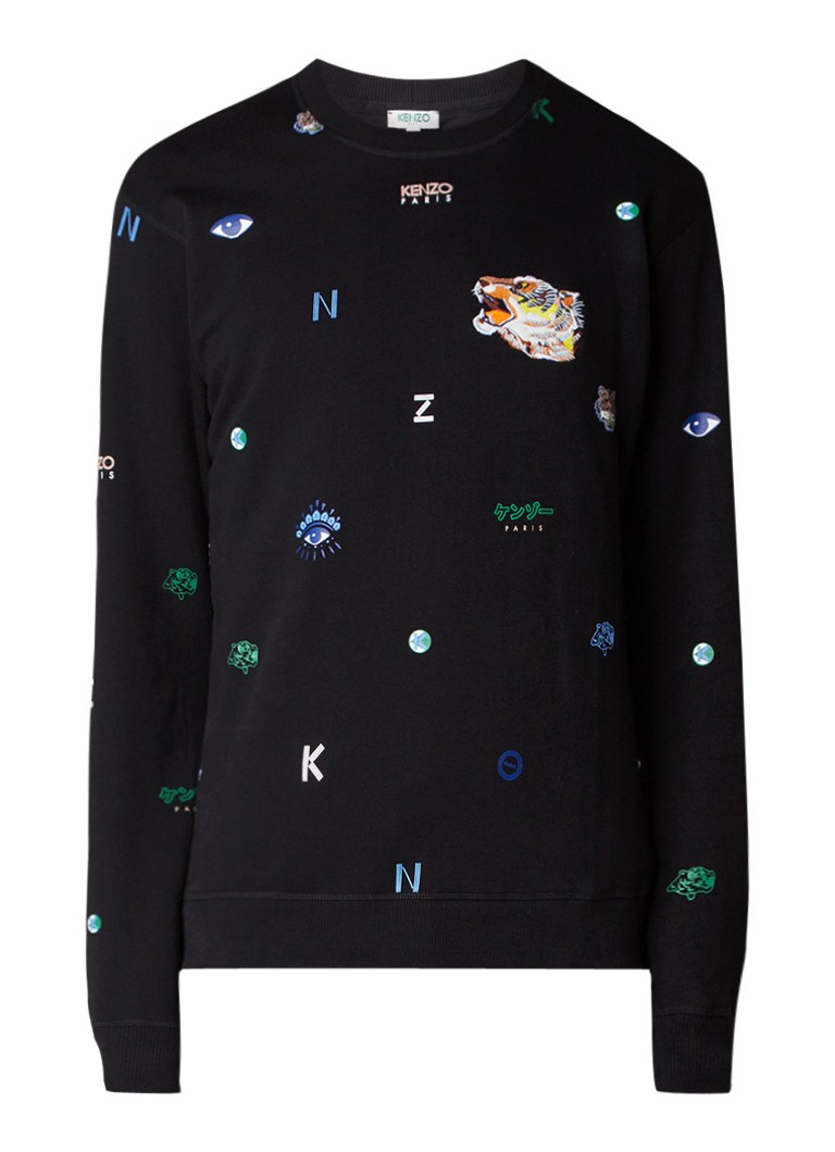 KENZO Multi Icons sweater met all over logodessin