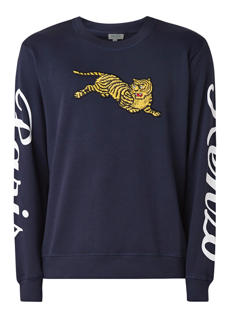 KENZO Jumping Tiger sweater met patch en logoprint