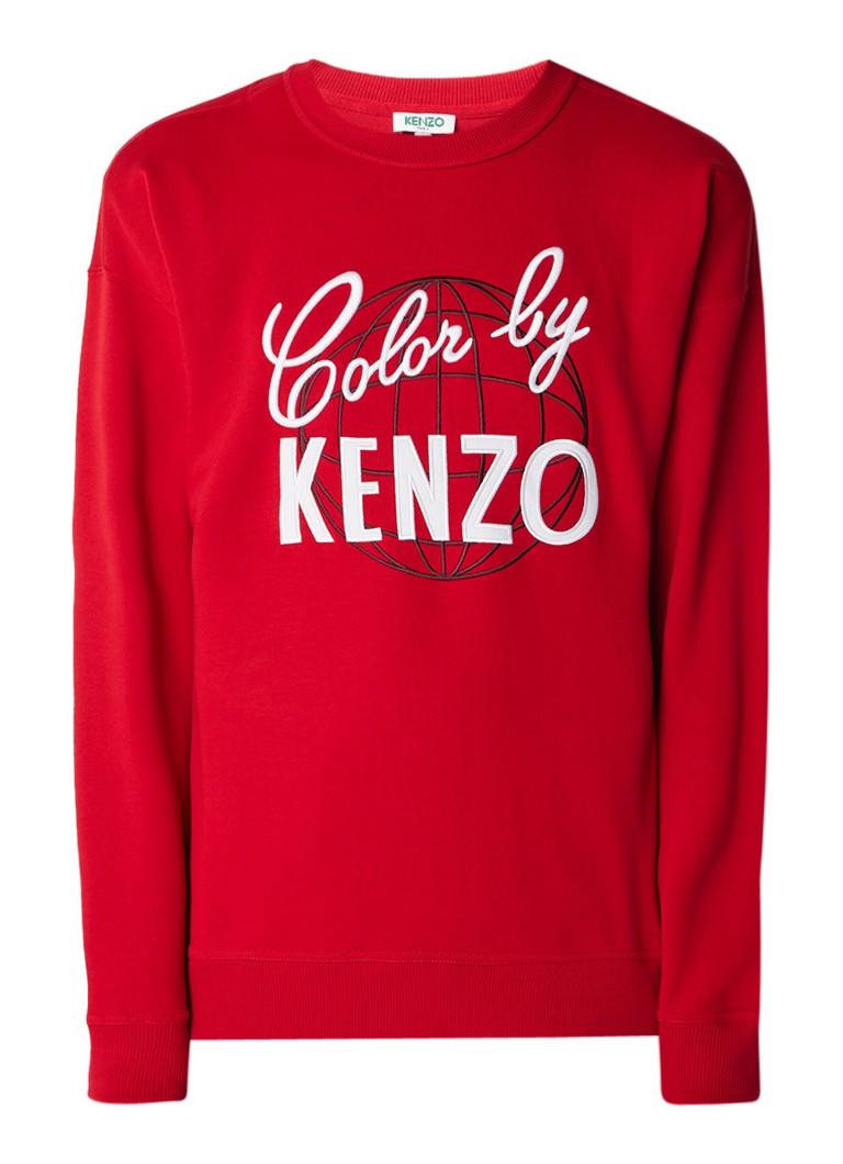 KENZO Colour By Kenzo sweater met logoborduring