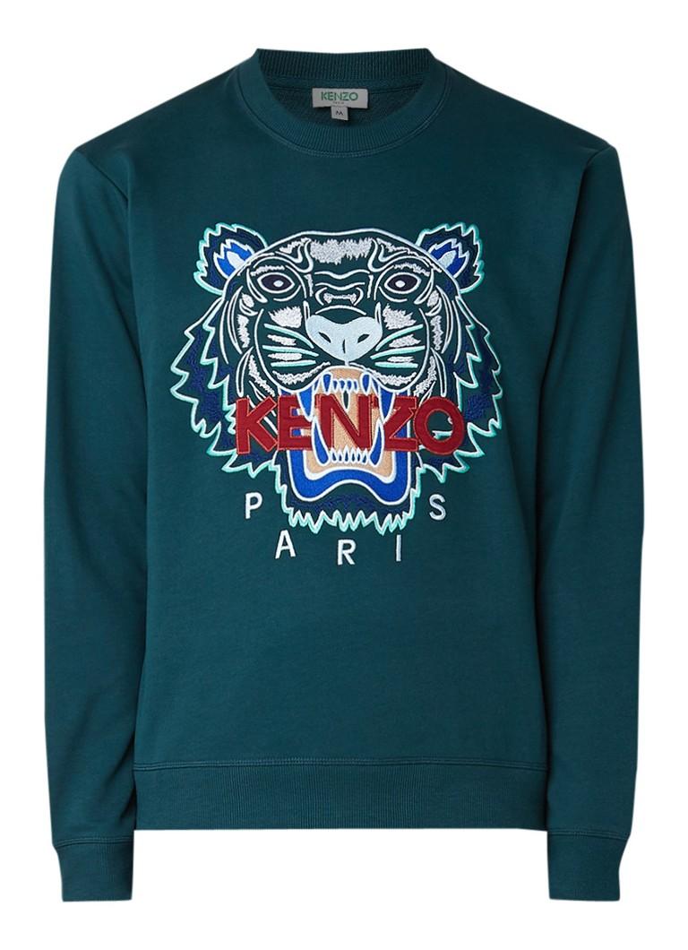 KENZO Icon Tiger sweater met logoborduring