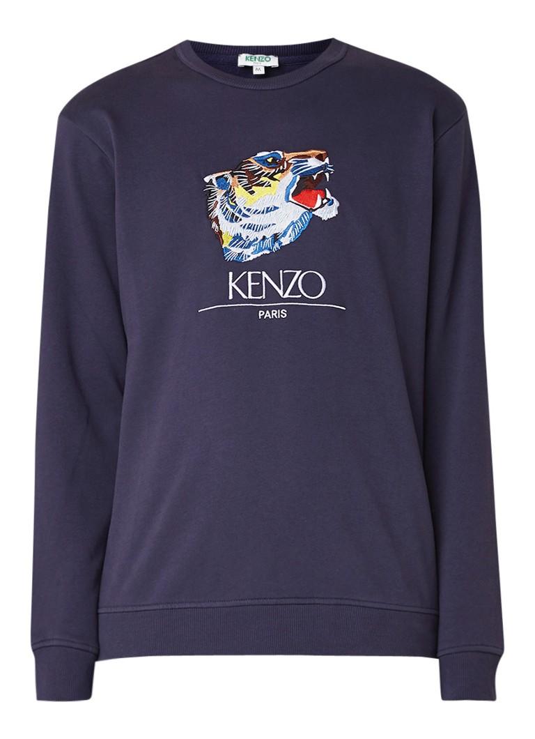 KENZO Tiger Head sweater met logoborduring