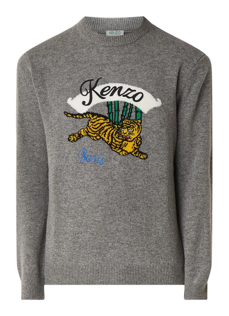 KENZO Fijngebreide trui met logoborduring