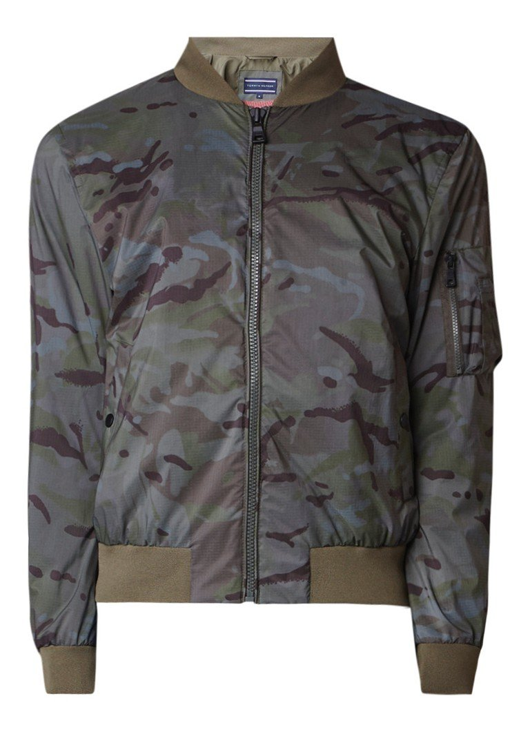 Tommy Hilfiger Camo bomberjack in camouflagedessin