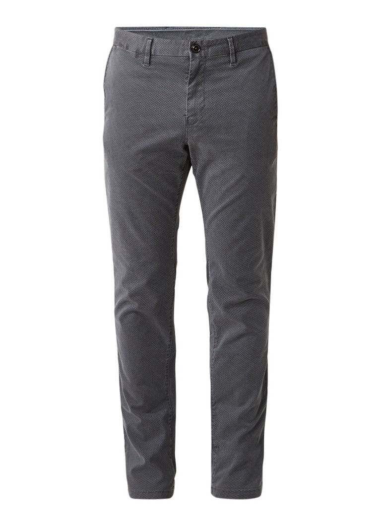 Tommy Hilfiger Bleecker slim fit chino met dessin
