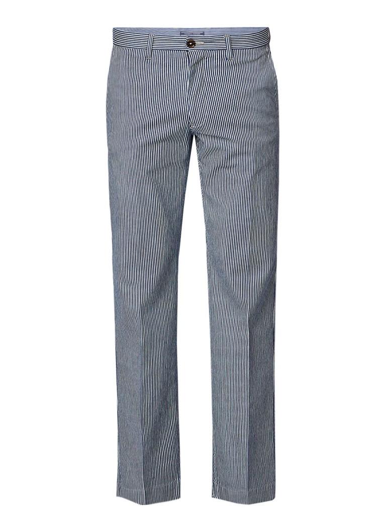 Tommy Hilfiger Wide fit pantalon van denim met streepdessin