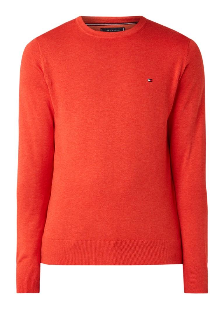 Image of Tommy Hilfiger Fijngebreide pullover in zijdeblend