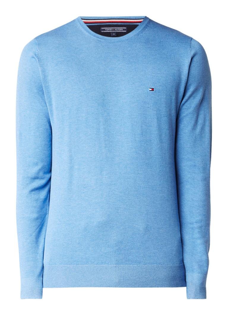Tommy Hilfiger Plaited pullover in blend van katoen met zijde
