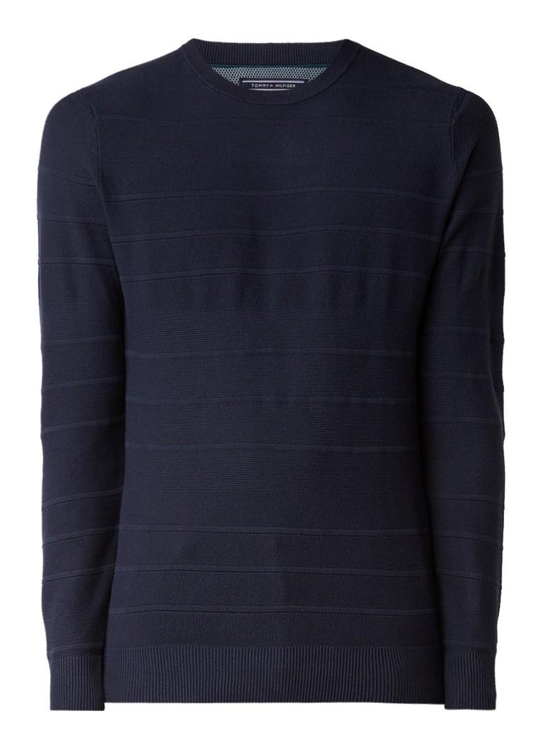 Tommy Hilfiger Brody pullover van katoen met ingebreid streepdessin