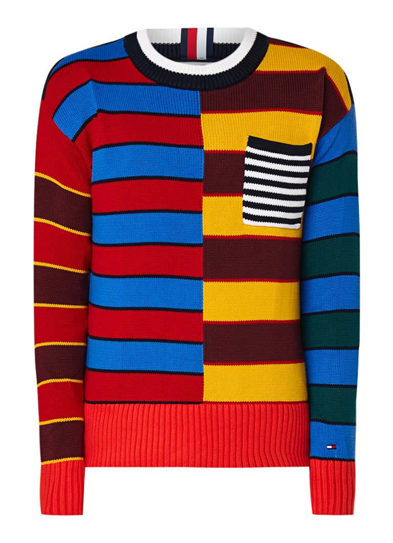 Tommy Hilfiger Trui met abstract colour blocking dessin