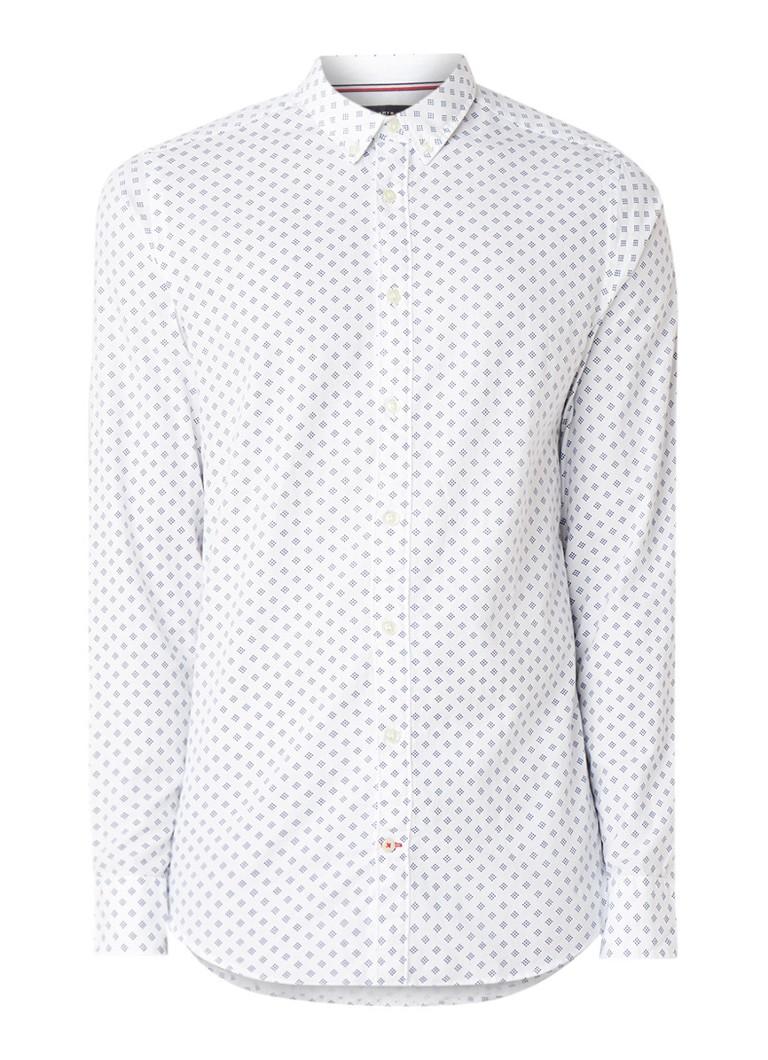 Image of Tommy Hilfiger Slim fit overhemd met dessin