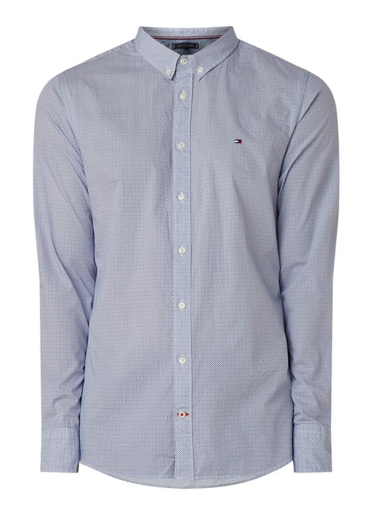 Image of Tommy Hilfiger Triple Diamond slim fit overhemd met dessin