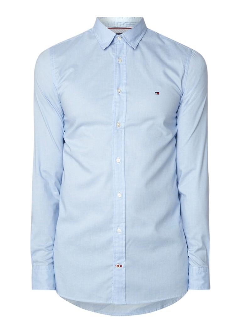 Image of Tommy Hilfiger Essential slim fit overhemd met micro dessin