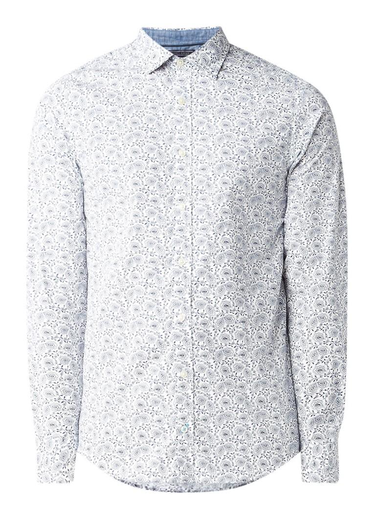 Tommy Hilfiger Slim fit overhemd met paisley dessin