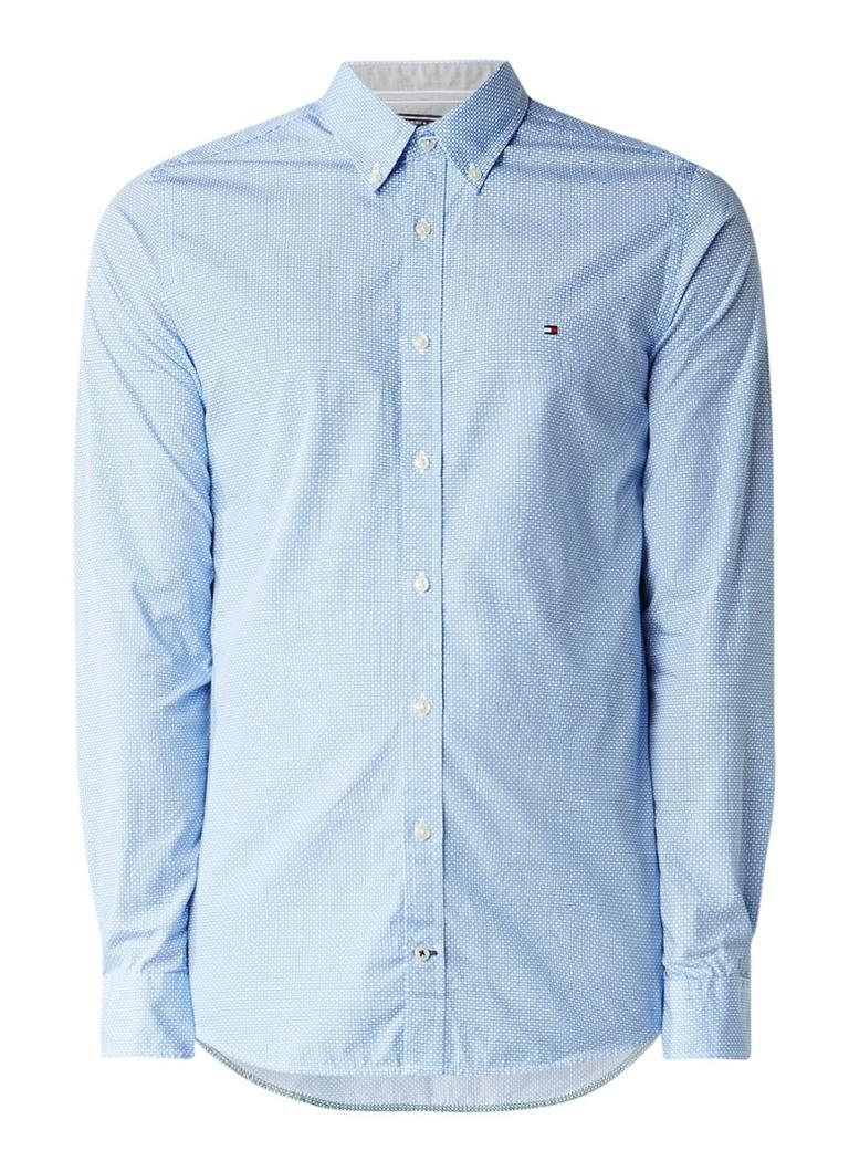 Tommy Hilfiger Ryan slim fit button down-overhemd met dessin