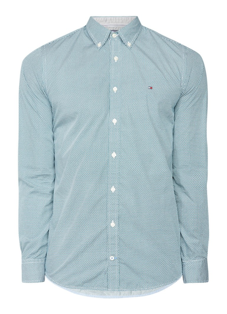 Tommy Hilfiger Ryan slim fit button down-overhemd met dessin