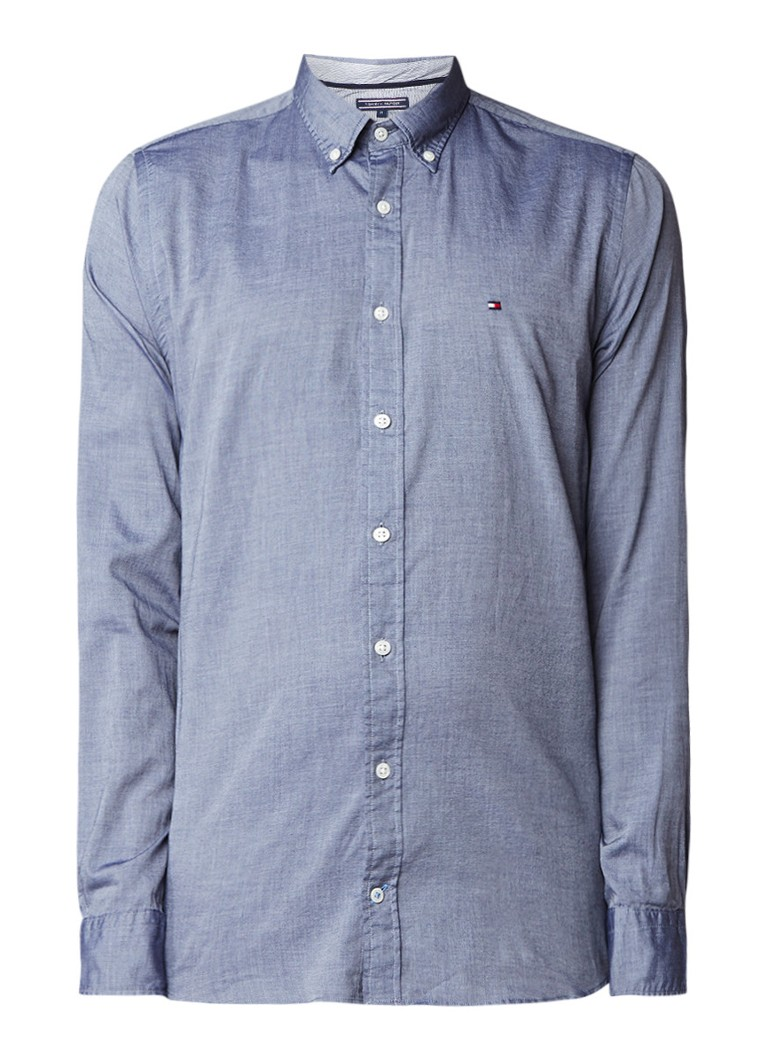 Tommy Hilfiger Regular fit chambray button down-overhemd