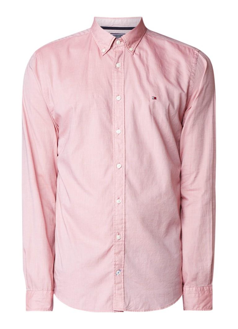 Tommy Hilfiger Dobby regular fit overhemd met button down-kraag