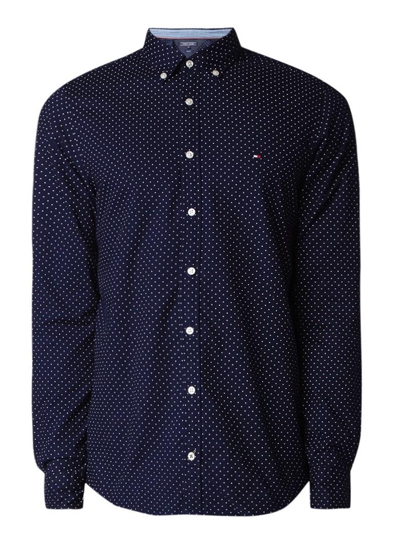 Tommy Hilfiger Slim fit button down-overhemd met stipdessin