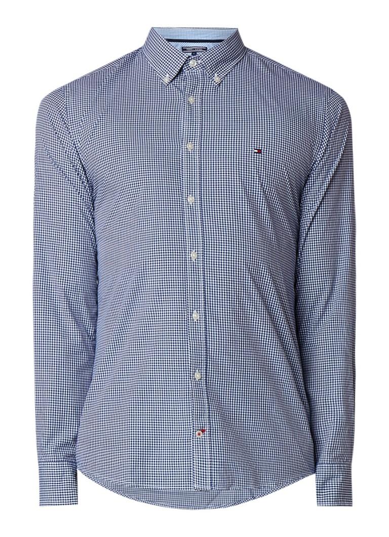 Tommy Hilfiger Regular fit button down-overhemd met micro ruitdessin