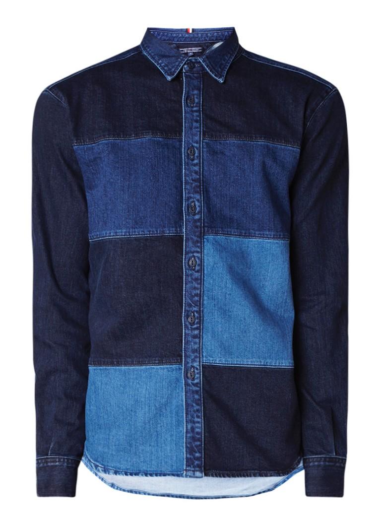 Tommy Hilfiger Collation straight fit overhemd van denim
