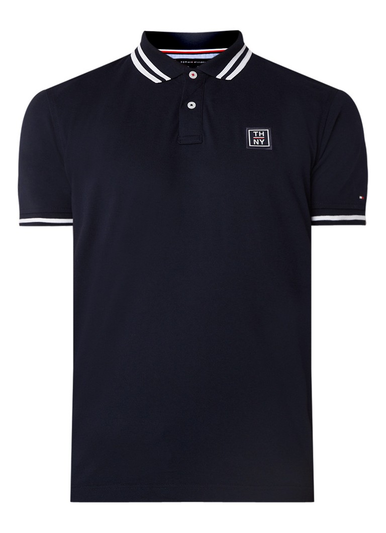 Tommy Hilfiger Regular fit polo met logo patch