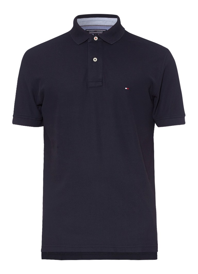 Tommy Hilfiger Performance polo korte mouwen donkerblauw
