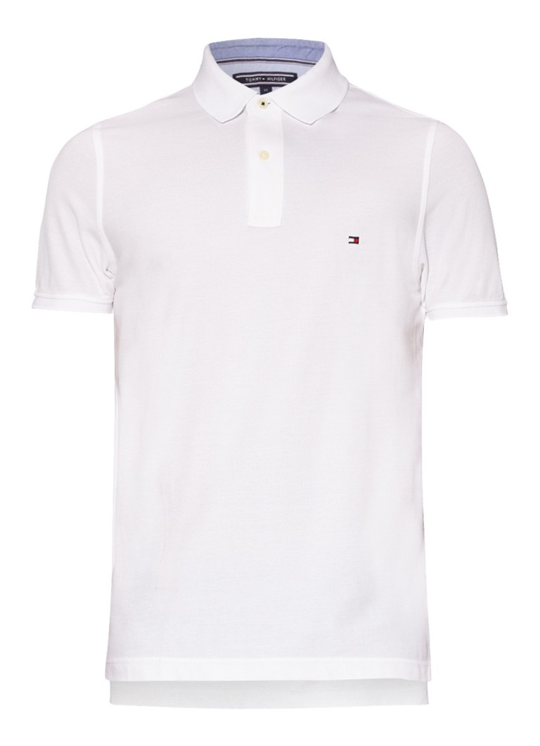 Tommy Hilfiger Performance slim fit polo in wit