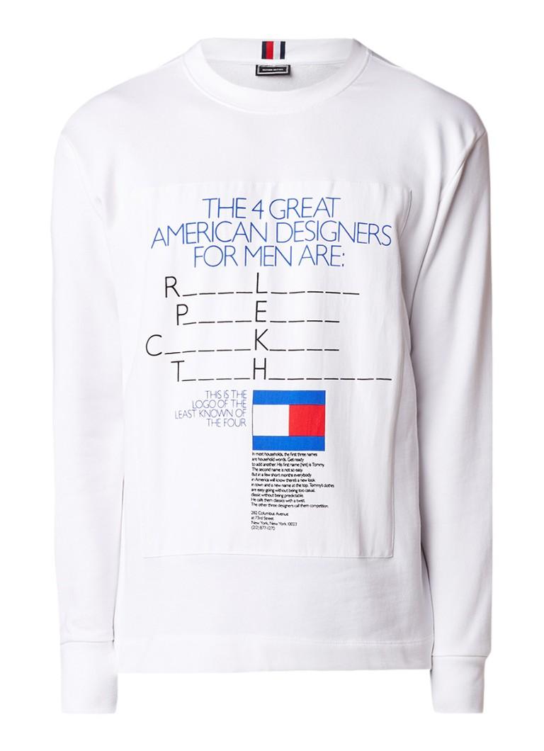 Tommy Hilfiger Be Bold Terry sweater met tekstopdruk