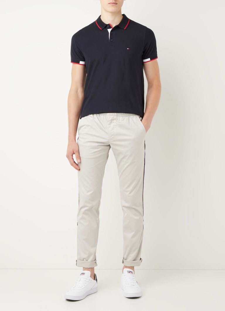 Tommy Hilfiger Bleecker slim fit pantalon met logoband
